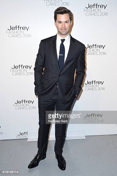Actor Andrew Rannells attends the Jeffrey Fashion Cares 13th Annual Fashion Fundraiser at the Intrepid SeaAirSpace Museum on April 4 2016 in New York...