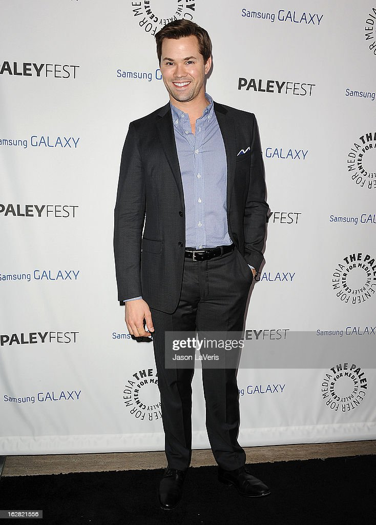 Actor Andrew Rannells attends the PaleyFest Icon Award presentation at The Paley Center for Media on February 27, 2013 in Beverly Hills, California.