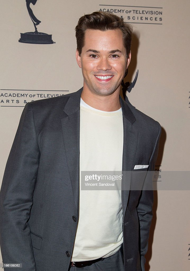 Actor <a gi-track='captionPersonalityLinkClicked' href=/galleries/search?phrase=Andrew+Rannells&family=editorial&specificpeople=2471329 ng-click='$event.stopPropagation()'>Andrew Rannells</a> attends The Prime Time Closet - A History of Gays and Lesbians on TV at Academy of Television Arts & Sciences on October 28, 2013 in North Hollywood, California.