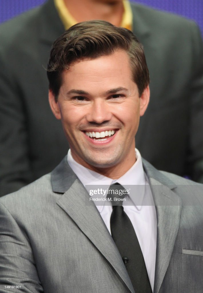 Actor Andrew Rannells speaks onstage at 'The New Normal' panel during day 4 of the NBCUniversal portion of the 2012 Summer TCA Tour held at the...