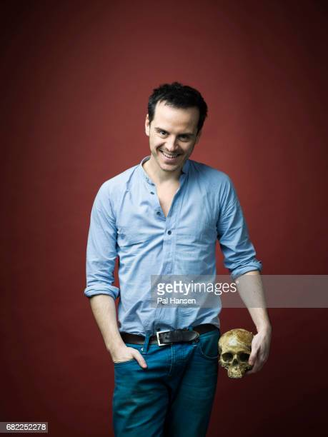 Actor Andrew Scott is photographed for the Sunday Times on December 3 2016 in London England