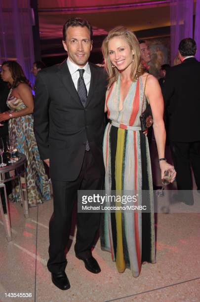 Actor Andrew Shue and Amy Robach of NBC attend MSNBC After Party event for the White House Correspondents Association Dinner at Italian Embassy on...