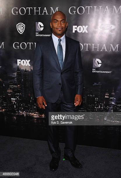 Actor Andrew StewartJones attends the 'Gotham' series premiere at The New York Public Library on September 15 2014 in New York City