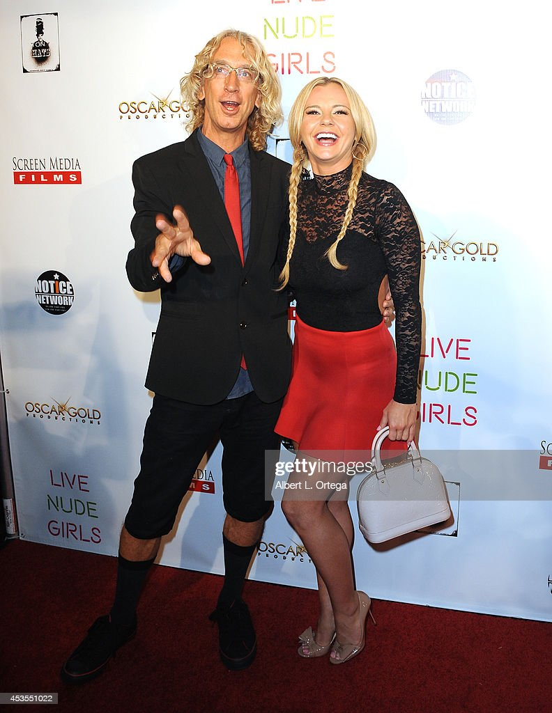 Actor <a gi-track='captionPersonalityLinkClicked' href=/galleries/search?phrase=Andy+Dick&family=editorial&specificpeople=171170 ng-click='$event.stopPropagation()'>Andy Dick</a> and adult film actress Bree Olsen arrive for the Premiere Of 'Live Nude Girls' held at Avalon on August 12, 2014 in Hollywood, California.