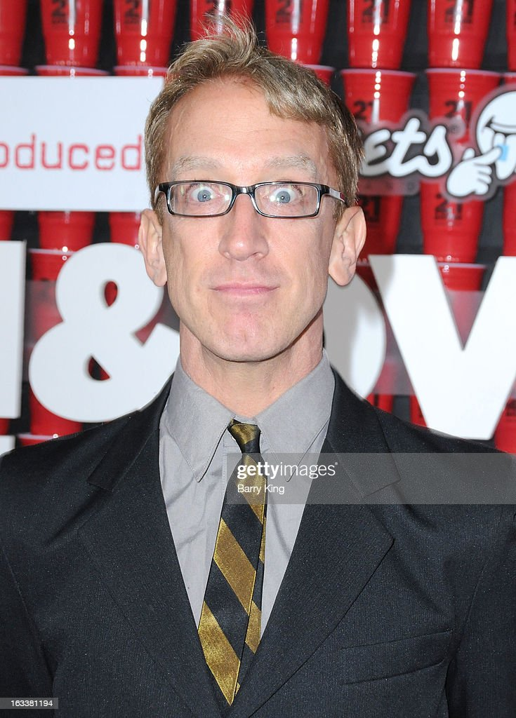 Actor <a gi-track='captionPersonalityLinkClicked' href=/galleries/search?phrase=Andy+Dick&family=editorial&specificpeople=171170 ng-click='$event.stopPropagation()'>Andy Dick</a> arrives at the '21 And Over' - Los Angeles Premiere at Westwood Village Theatre on February 21, 2013 in Los Angeles, California.