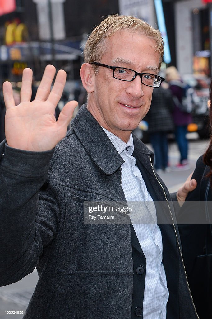 Actor <a gi-track='captionPersonalityLinkClicked' href=/galleries/search?phrase=Andy+Dick&family=editorial&specificpeople=171170 ng-click='$event.stopPropagation()'>Andy Dick</a> enters the 'Big Morning Buzz' taping at the VH1 Studios on March 11, 2013 in New York City.