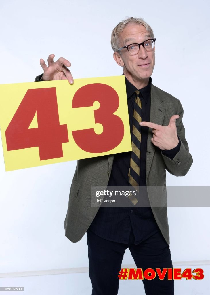 Actor <a gi-track='captionPersonalityLinkClicked' href=/galleries/search?phrase=Andy+Dick&family=editorial&specificpeople=171170 ng-click='$event.stopPropagation()'>Andy Dick</a> poses for a portrait during Relativity Media's 'Movie 43' Los Angeles premiere at TCL Chinese Theatre on January 23, 2013 in Hollywood, California.