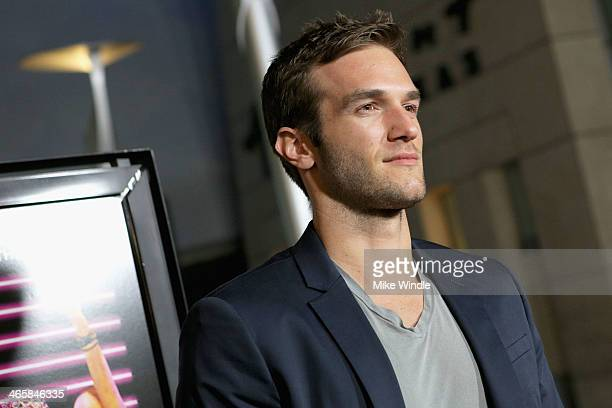 Actor Andy Favreau arrives at the premiere of Magnet's 'Best Night Ever' at ArcLight Cinemas on January 29 2014 in Hollywood California