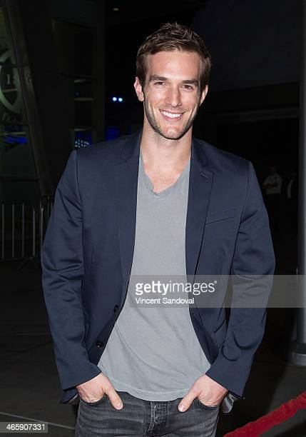 Actor Andy Favreau attends the Los Angeles Premiere of 'Best Night Ever' at ArcLight Cinemas on January 29 2014 in Hollywood California