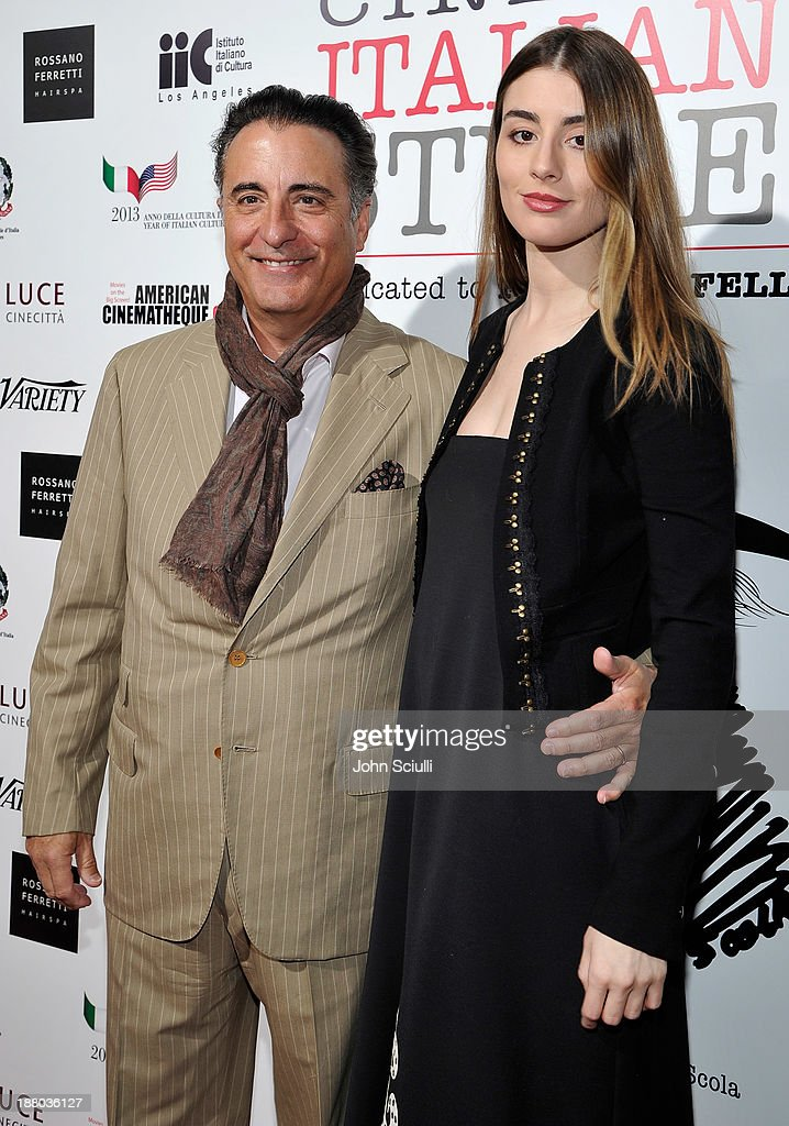 Actor Andy Garcia and daughter Dominik Garcia- Lorido attend Cinema Italian Style 2013 'The Great Beauty' opening night premiere at the Egyptian Theatre on November 14, 2013 in Hollywood, California.