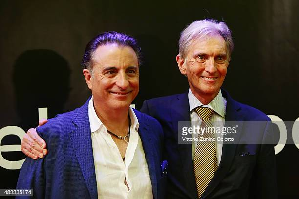 Actor Andy Garcia and Marco Solari attend the Leopard Club Award 2015 red carpet on August 7 2015 in Locarno Switzerland