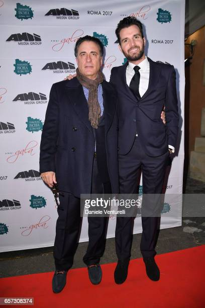 Actor Andy Garcia and producer Andrea Iervolino attends AMBI GALA In Honour Of Andy Garcia And Bobby Moresco on March 23 2017 in Rome Italy