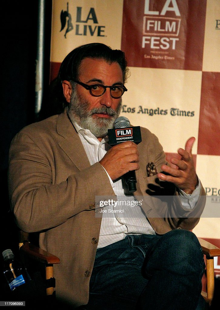 Actor <a gi-track='captionPersonalityLinkClicked' href=/galleries/search?phrase=Andy+Garcia&family=editorial&specificpeople=156410 ng-click='$event.stopPropagation()'>Andy Garcia</a> attends A Conversation: Remembering Sidney Lumet during the 2011 Los Angeles Film Festival held at Regal Cinemas L.A. LIVE on June 21, 2011 in Los Angeles, California.