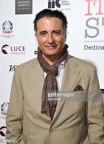 Actor Andy Garcia attends Cinema Italian Style 2013 'The Great Beauty' opening night premiere at the Egyptian Theatre on November 14 2013 in...