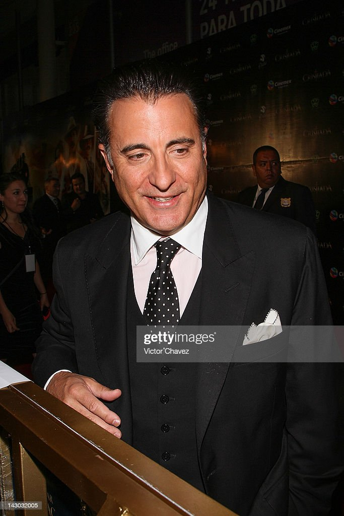 Actor <a gi-track='captionPersonalityLinkClicked' href=/galleries/search?phrase=Andy+Garcia&family=editorial&specificpeople=156410 ng-click='$event.stopPropagation()'>Andy Garcia</a> attends the 'For Greater Glory (Cristiada)' Mexico City Premiere at Cinemex Antara Polanco on April 17, 2012 in Mexico City, Mexico.