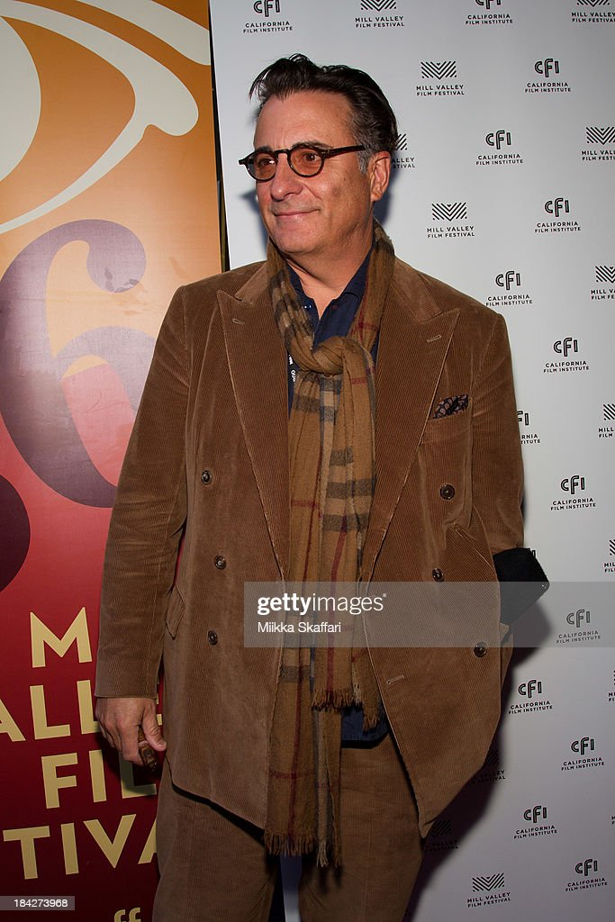 Actor <a gi-track='captionPersonalityLinkClicked' href=/galleries/search?phrase=Andy+Garcia&family=editorial&specificpeople=156410 ng-click='$event.stopPropagation()'>Andy Garcia</a> is arriving to the premiere of 'At Middleton' on October 12, 2013 in Mill Valley, California.