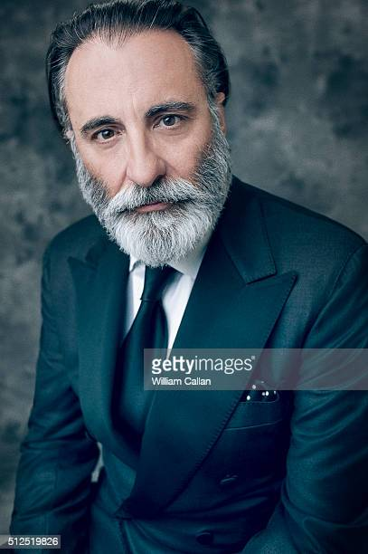 Actor Andy Garcia poses for a portrait at the 18th Costume Designers Guild Awards at The Beverly Hilton Hotel on February 23 2016 in Beverly Hills...