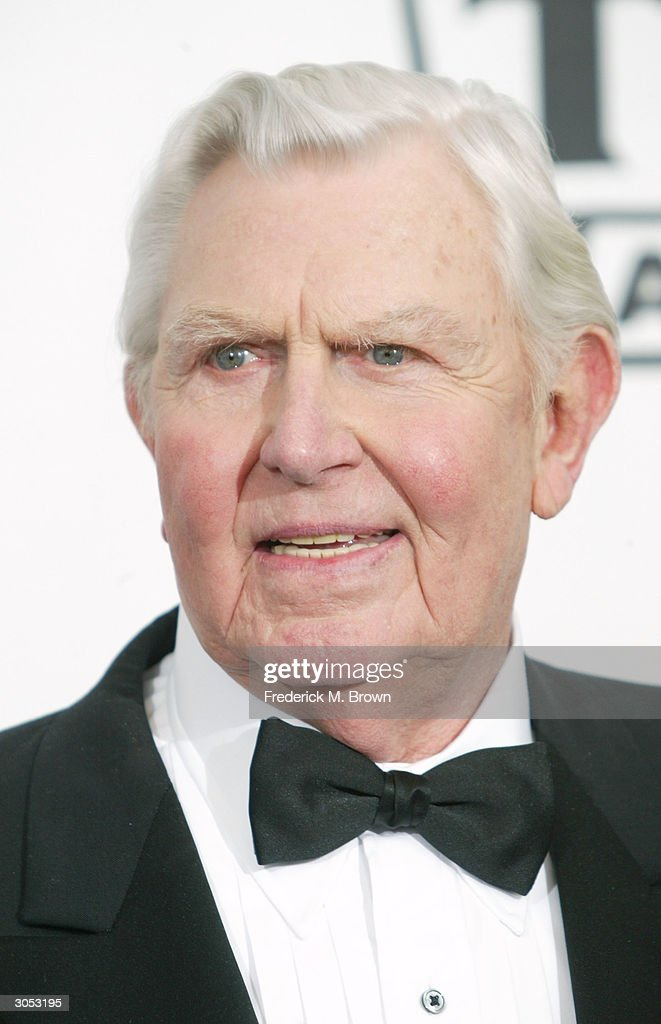 Actor <a gi-track='captionPersonalityLinkClicked' href=/galleries/search?phrase=Andy+Griffith+-+Actor&family=editorial&specificpeople=13258228 ng-click='$event.stopPropagation()'>Andy Griffith</a> poses backstage at the 2nd Annual TV Land Awards held on March 7, 2004 at The Hollywood Palladium, in Hollywood, California.