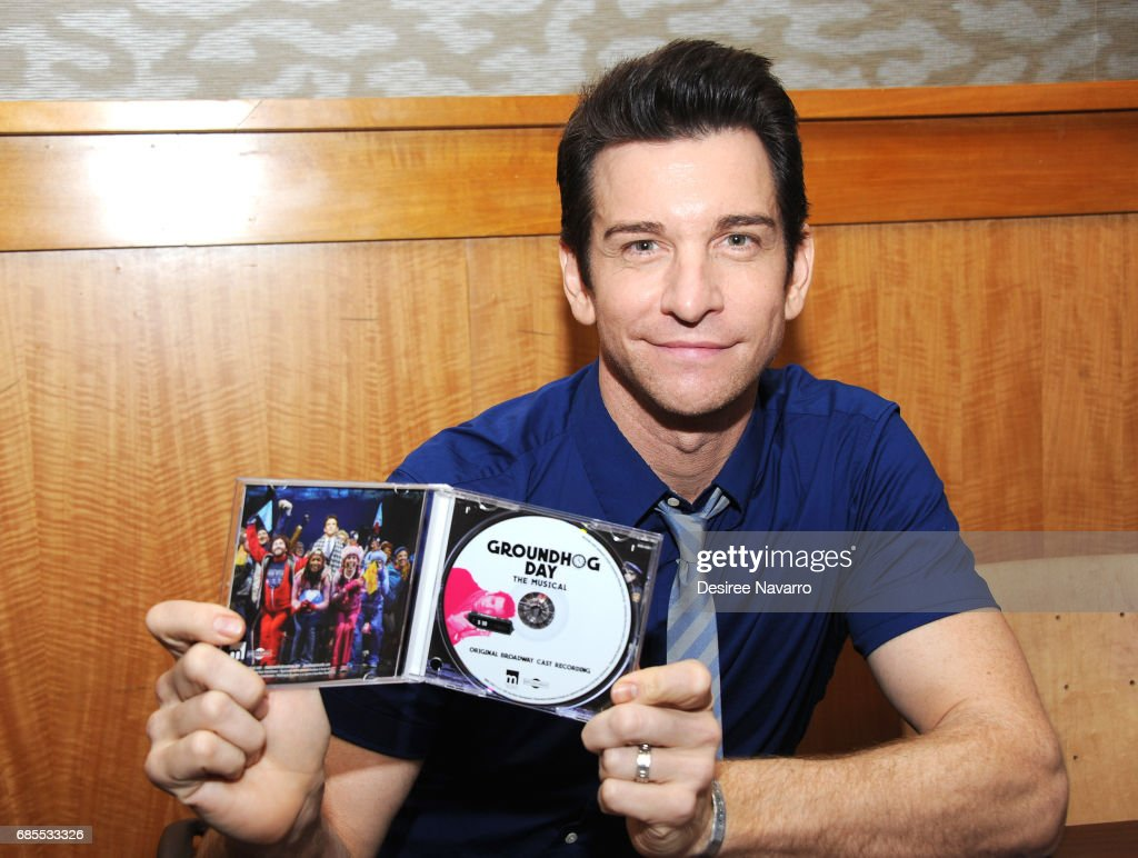Actor Andy Karl attends 'Groundhog Day The Musical' signing and performance event at Barnes & Noble, 86th & Lexington on May 19, 2017 in New York City.