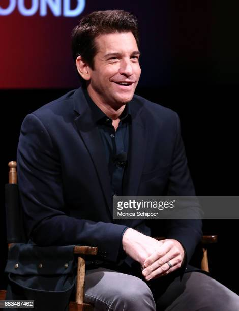 Actor Andy Karl speaks on stage during SAGAFTRA Foundation Conversations On Broadway Andy Karl Moderated by Richard Ridge at SAGAFTRA Foundation...