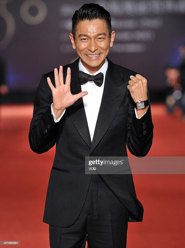 Actor <a gi-track='captionPersonalityLinkClicked' href=/galleries/search?phrase=Andy+Lau&family=editorial&specificpeople=171171 ng-click='$event.stopPropagation()'>Andy Lau</a> arrives on the red carpet of the 50th Golden Horse Awards at Sun Yat-sen Memorial Hall on November 23, 2013 in Taipei, Taiwan.