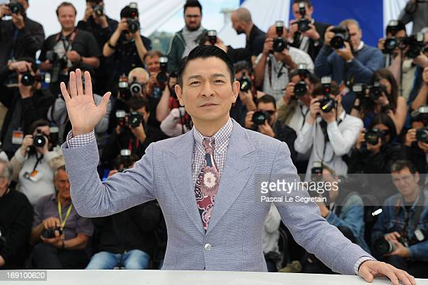 Actor Andy Lau attends the photocall for 'Blind Detective' during The 66th Annual Cannes Film Festival at Palais des Festivals on May 20 2013 in...