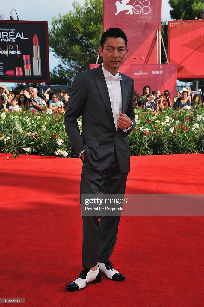 Actor <a gi-track='captionPersonalityLinkClicked' href=/galleries/search?phrase=Andy+Lau&family=editorial&specificpeople=171171 ng-click='$event.stopPropagation()'>Andy Lau</a> attends the 'Tao Jie' premiere at the Palazzo del Cinema during the 68th Venice Film Festival on September 5, 2011 in Venice, Italy.