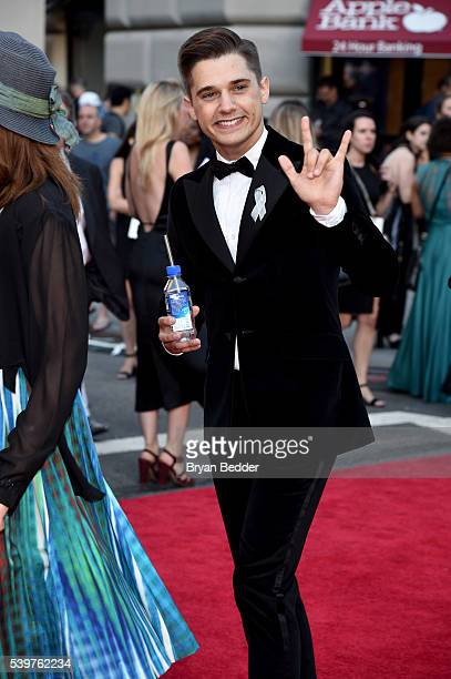 Actor Andy Mientus arrives at FIJI Water at 2016 Tony Awards at The Beacon Theatre on June 12 2016 in New York City
