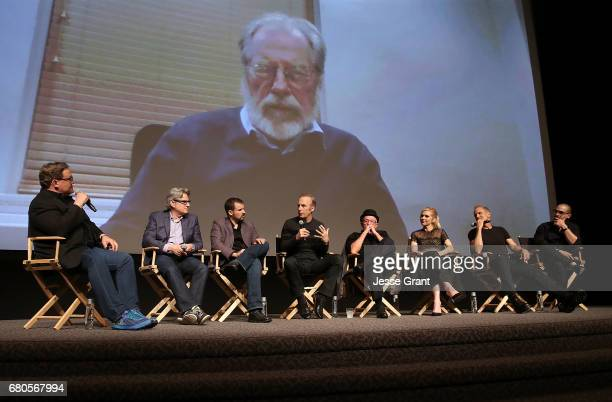 Actor Andy Richter writer Peter Gould writer Gordon Smith actors Bob Odenkirk Jonathan Banks Rhea Seehorn Patrick Fabian and Michael Mando attend the...