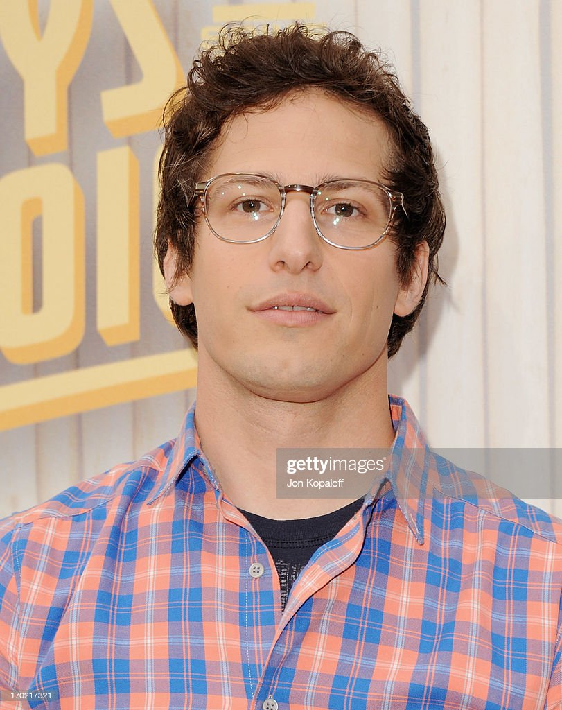 Actor <a gi-track='captionPersonalityLinkClicked' href=/galleries/search?phrase=Andy+Samberg&family=editorial&specificpeople=595651 ng-click='$event.stopPropagation()'>Andy Samberg</a> arrives at Spike TV's 'Guys Choice 2013' at Sony Pictures Studios on June 8, 2013 in Culver City, California.