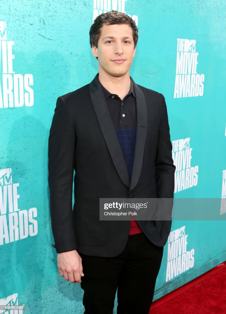 Actor Andy Samberg arrives at the 2012 MTV Movie Awards held at Gibson Amphitheatre on June 3, 2012 in Universal City, California.