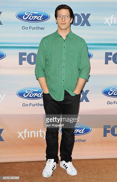 Actor Andy Samberg arrives at the 2014 FOX Fall EcoCasino Party at The Bungalow on September 8 2014 in Santa Monica California