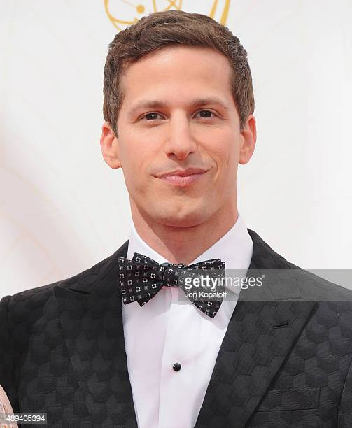 Actor Andy Samberg arrives at the 67th Annual Primetime Emmy Awards at Microsoft Theater on September 20 2015 in Los Angeles California