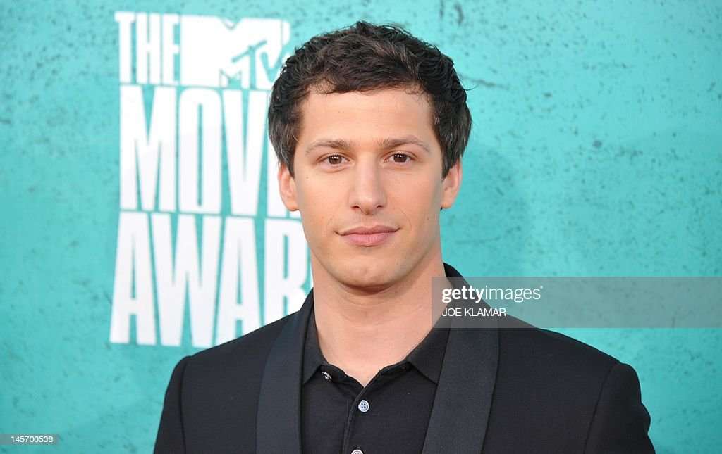 Actor Andy Samberg arrives at the MTV Movie Awards at Universal Studios, in Los Angeles, California, on June 3, 2012.