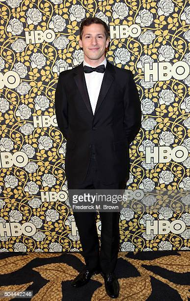Actor Andy Samberg attends HBO's Post 2016 Golden Globe Awards Party at Circa 55 Restaurant on January 10 2016 in Los Angeles California