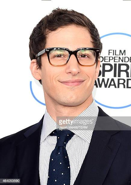 Actor Andy Samberg attends the 2015 Film Independent Spirit Awards at Santa Monica Beach on February 21 2015 in Santa Monica California