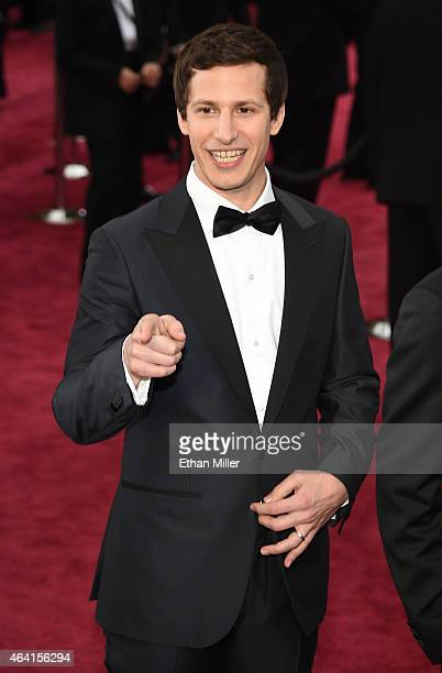 Actor Andy Samberg attends the 87th Annual Academy Awards at Hollywood Highland Center on February 22 2015 in Hollywood California