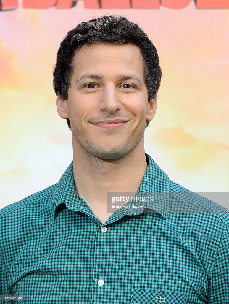 Actor <a gi-track='captionPersonalityLinkClicked' href=/galleries/search?phrase=Andy+Samberg&family=editorial&specificpeople=595651 ng-click='$event.stopPropagation()'>Andy Samberg</a> attends the 'Cloudy With A Chance Of Meatballs 2' Los Angeles Photo Call at the Four Seasons Hotel Los Angeles at Beverly Hills on September 15, 2013 in Beverly Hills, California.