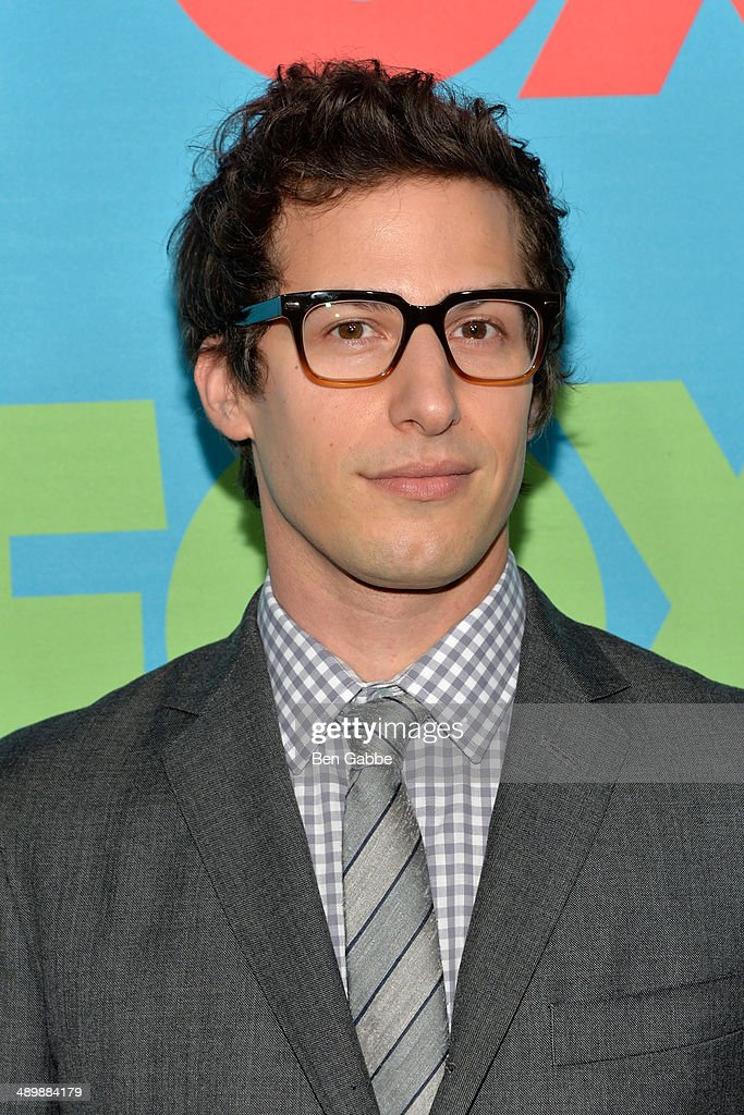 Actor <a gi-track='captionPersonalityLinkClicked' href=/galleries/search?phrase=Andy+Samberg&family=editorial&specificpeople=595651 ng-click='$event.stopPropagation()'>Andy Samberg</a> attends the FOX 2014 Programming Presentation at the FOX Fanfront on May 12, 2014 in New York City.