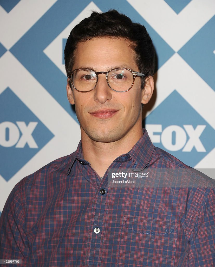 Actor <a gi-track='captionPersonalityLinkClicked' href=/galleries/search?phrase=Andy+Samberg&family=editorial&specificpeople=595651 ng-click='$event.stopPropagation()'>Andy Samberg</a> attends the FOX All-Star 2014 winter TCA party at The Langham Huntington Hotel and Spa on January 13, 2014 in Pasadena, California.