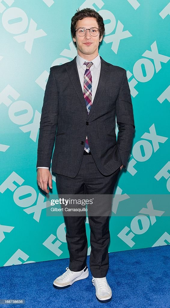 Actor Andy Samberg of 'Brooklyn Nine-Nine' attends the FOX 2103 Programming Presentation Post-Party at Wollman Rink - Central Park on May 13, 2013 in New York City.
