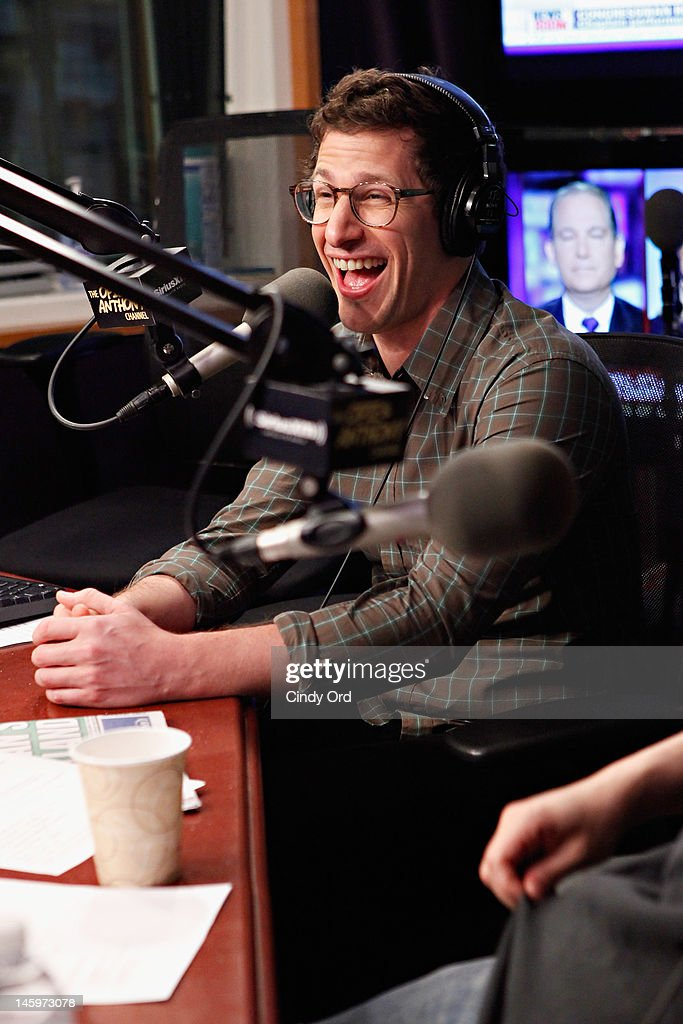 Actor <a gi-track='captionPersonalityLinkClicked' href=/galleries/search?phrase=Andy+Samberg&family=editorial&specificpeople=595651 ng-click='$event.stopPropagation()'>Andy Samberg</a> visits 'The Opie & Anthony Show' at the SiriusXM Studio on June 8, 2012 in New York City.
