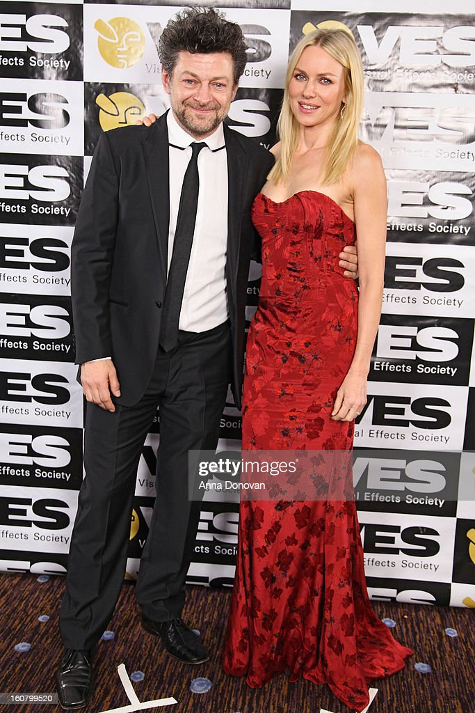 Actor Andy Serkis and actress Naomi Watts attend the 11th Annual Visual Effects Society Awards at The Beverly Hilton Hotel on February 5, 2013 in Beverly Hills, California.