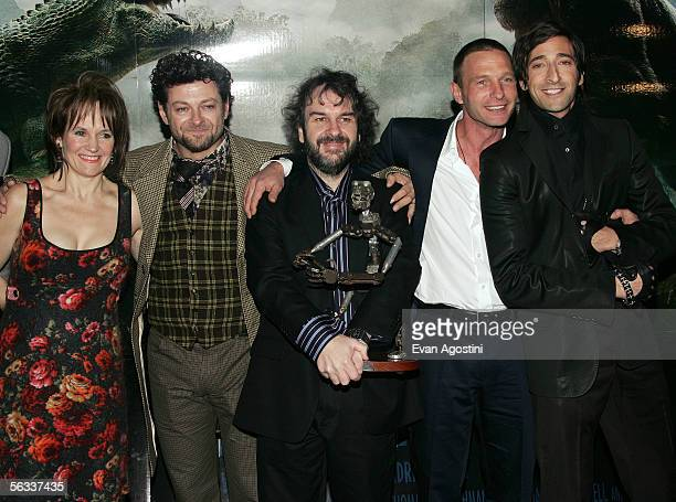 Actor Andy Serkis and wife Lorraine producer Peter Jackson actors Thomas Kretschmann and Adrien Brody attend the Universal Pictures' premiere of...