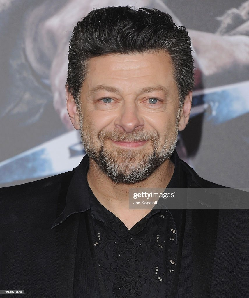 Actor Andy Serkis arrives at the Los Angeles Premiere 'The Hobbit The Battle Of The Five Armies' at Dolby Theatre on December 9 2014 in Hollywood...