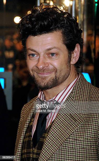 Actor Andy Serkis arrives at the UK Premiere of 'King Kong' at the Odeon Leicester Square on December 8 2005 in London England