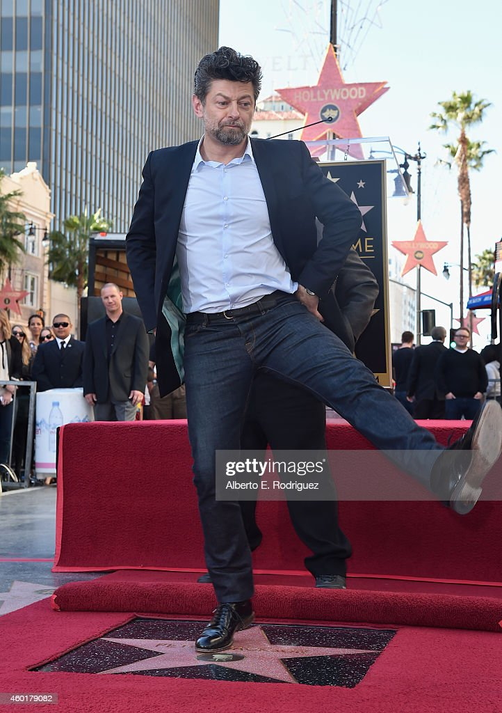 Actor Andy Serkis attends a ceremony honoring Sir Peter Jackson with the 2,538th Star on The Hollywood Walk of Fame on December 8, 2014 in Hollywood, California.