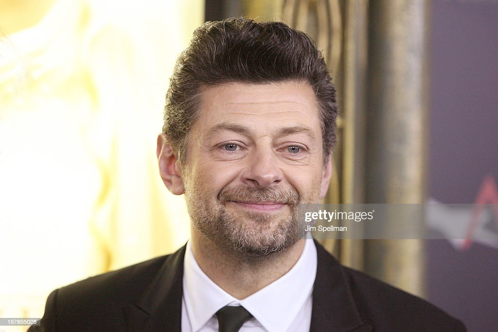 Actor <a gi-track='captionPersonalityLinkClicked' href=/galleries/search?phrase=Andy+Serkis&family=editorial&specificpeople=210893 ng-click='$event.stopPropagation()'>Andy Serkis</a> attends 'The Hobbit: An Unexpected Journey' premiere at the Ziegfeld Theater on December 6, 2012 in New York City.