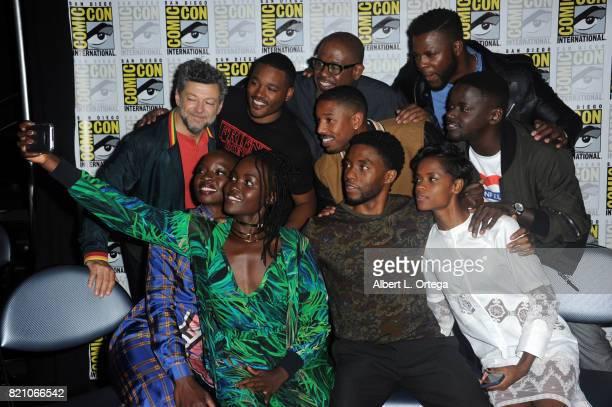 Actor Andy Serkis director Ryan Coogler actors Forest Whitaker Michael B Jordan Winston Duke and Daniel Kaluuya actors Danai Gurira Lupita Nyong'o...