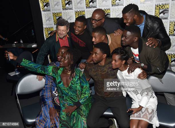 Actor Andy Serkis director Ryan Coogler actors Forest Whitaker Michael B Jordan Winston Duke Daniel Kaluuya Danai Gurira Lupita Nyong'o Chadwick...